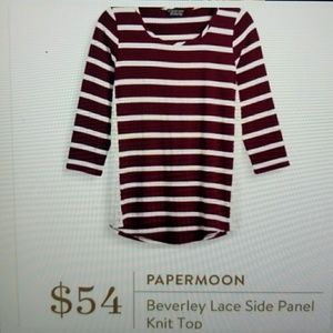 Papermoon Beverly Lace Side Top